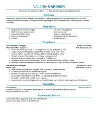 Assistant Store Manager Resume Amazing Best Retail Assistant Store Manager Resume Example LiveCareer