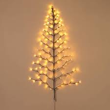 Battery Operated Net Lights With Timer Ten Waterloo Lighted Christmas Wall Tree Indoor Outdoor
