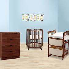 stokke sleepi 3 piece nursery set mini bundle crib 5 drawer dresser and care changing table in walnut free