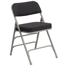 black metal folding chairs. HERCULES Series Premium Curved Triple Braced \u0026 Double-Hinged Black Pin-Dot Fabric Metal Folding Chairs