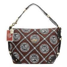 Coach Fashion Logo Large Coffee Shoulder Bags 21330