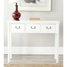 hall console table white. White Narrow Console Table Safavieh Cindy The With Slightly Tapered Legs Just Hall L