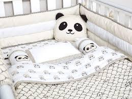 peekaboo pandaorganic crib bedding set masilo baby bedding baby