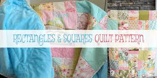 10 Free Layer Cake Quilt Patterns For Beginners & Rectangles and Squares Quilt Pattern Adamdwight.com