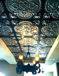 faux tin ceiling tiles glue up elegant
