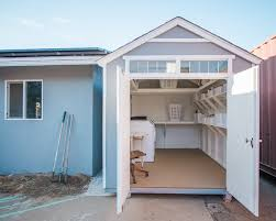 open laundry shed outside