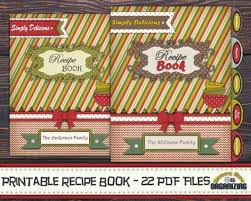 diy printable recipe book templates pdf 8 5x11 recipe binder blank family cookbook covers spines recipe pages recipe cards tabs