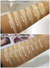 Huda Beauty Foundation Comparison Chart Www