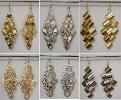 gold silver plated filigree chandelier dangle heart diamond cut long earrings ip