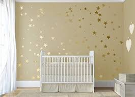 Small Picture 120 Gold Metallic Stars Nursery Wall stickers Gold Wall Decals