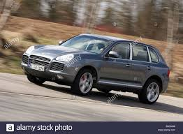 Porsche Cayenne Turbo S, model year 2006-, silver/anthracite Stock ...
