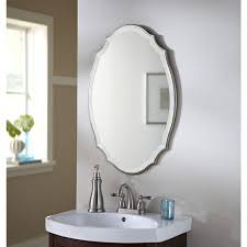 Shop allen + roth 20-in x 30-in Silver Beveled Oval Framed French ...