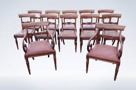 antique dining room chairs. Set 12 Regency Mahogany Bar Back Dining Chairs With Carvers Antique Room
