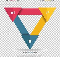 Triangle Infographic Icon Triangle Puzzle Information Chart