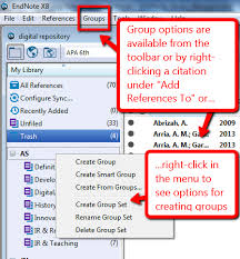 Endnotes References Organizing References In Endnote Endnote Library