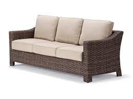 Rattan Wicker Porcelain Cushion Bench Seat Wicker Furniture