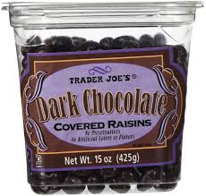 amazon trader joes dark chocolate covered raisins candy and chocolate grocery gourmet food