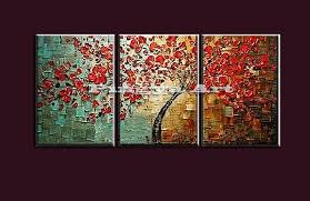 three panel wall art handmade red tree peacock picture cheap modern canvas oil painting hang on  on 3 panel wall art canvas with wall art best ideas three panel wall art large 3 panel wall art
