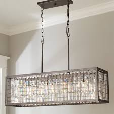 architecture attractive rectangular glass drop chandelier 10 luxury 12 crystal and metal cage island jpg c