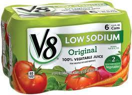 v8 low sodium original 100 vegetable juice 6pk
