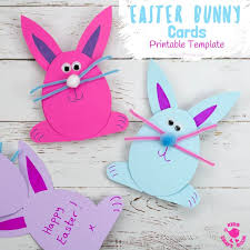 Easter Template Easter Bunny Card Template Kids Craft Room