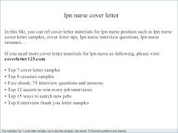 Lpn Resume Cover Letter Resume For Nursing Resume Cover Letter Nurse