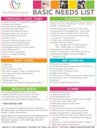 list of items needed for baby holiday helpers wish lists the children s center