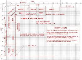sample kitchen layout sheet