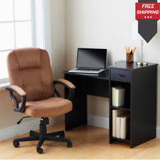 mainstays 3 piece home office bundle black. Mainstays Student Desk Computer Table Study Indoor Storage Books Organizer 3 Piece Home Office Bundle Black