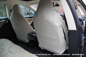 tesla model s front seat cover back