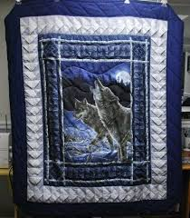 347 best Quilts Wildlife images on Pinterest | Blue, Canvas and Crafts & Wolf Fabric Panel quilt by