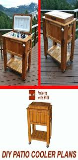 outdoor cooler box patio ideas cart cover barn wood table with coolers stand wooden best cool outdoor cooler box wooden