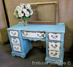 distressed blue furniture. Heavily-distressed-furniture-project-blue-and-white-desk Distressed Blue Furniture R