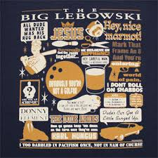The Big Lebowski Ultimate Quotes Navy Graphic TShirt TVMovieDepot Gorgeous Big Lebowski Quotes
