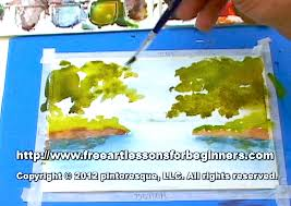 watercolor painting free art lesson step by step