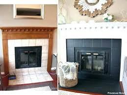 fireplace makeover tile redoing brick