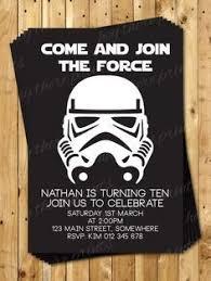 Star Wars Birthday Invitation Template Google Search