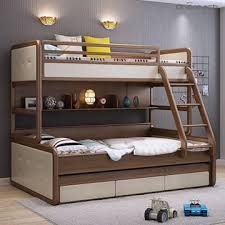... China Modern new style solid wood furniture triple bunk beds kids bunk  beds ...