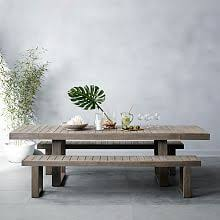 modern outdoor dining furniture. Portside Outdoor Expandable Dining Table - Weathered Gray Modern Outdoor Dining Furniture