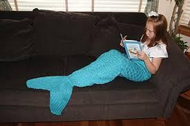 Mermaid Blanket Knitting Pattern Extraordinary 48aSong Mermaid Tail Blanket For Children Knitting Pattern Mermaid