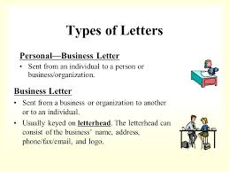 Personal Business Letter Examples Presentation Letter For Business Types Of Letters Personal Business