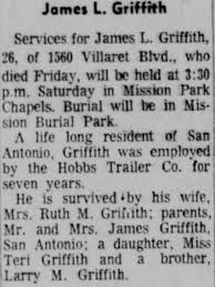 Obituary for James L. Griffith (Aged 28) - Newspapers.com
