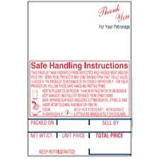 Able Co. Hobart Sp-80/600/1500 Style K Scale Label Safe Handling Print