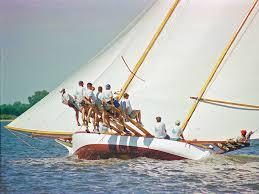race log historic log canoe flying cloud to race again attraction