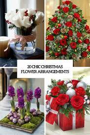20 Chic Christmas Flower Arrangements