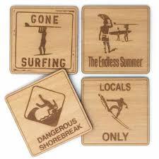 surfer coaster set of 4