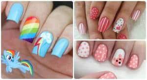 Si te gustan las uñas decoradas y modelos de uñas, si eliges llevar unas manos arregladas y bonitas éste es tu sitio. 150 Disenos De Unas Para Ninas Faciles Y Bonitos 2020