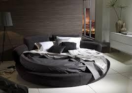 White fabric round mattresses ...