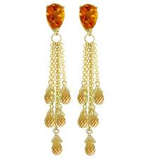 image is loading 14k solid rose gold chandelier earrings with briolette