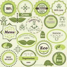 Label Design Free Green Natural Labels Design Vector 02 Free Free Download